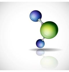 3d molecule background vector
