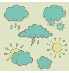 Icons images of weather vector