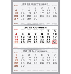 2015 october with red dating mark vector