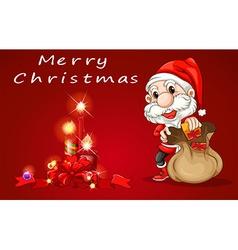 A christmas card template vector image
