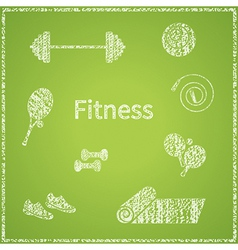 Fitness board vector