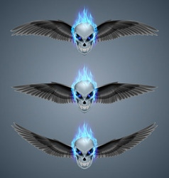 Flaming mutant skulls vector