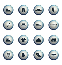 Clothes simply icons vector