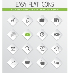 Office icons set vector