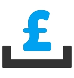 Pound deposit placement flat icon symbol vector