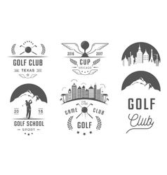 Set of golf logo labels and emblems vector