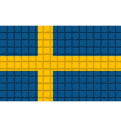 The mosaic flag of sweden vector