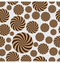 abstract rounded striped circle seamless pattern vector image vector image