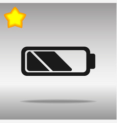 battery black icon button logo symbol vector image