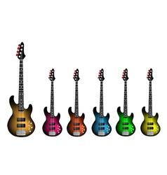 Beautiful Heavy Metal Electric Guitar vector image vector image