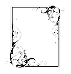 Calligraphic retro frame vector