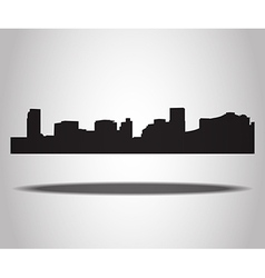 Cities silhouettes on the white background vector