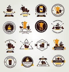 Coffee badgelabel icon menu Flat design vector image vector image