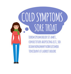 Cold grippe flu or seasonal influenza common vector