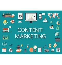 Content marketing vector
