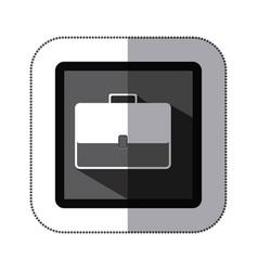 Contour bag case icon vector