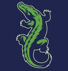 crocodile reptile mascot vector image
