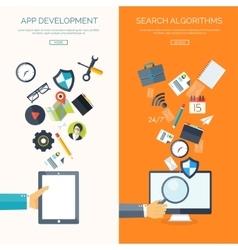 Flat background Social media vector image vector image