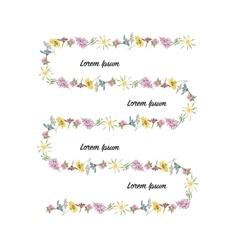 Floral frame sketch for your design vector