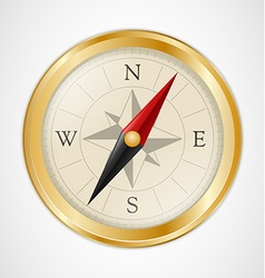 Golden Vintage Compass vector image