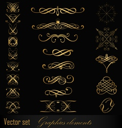 Graphics elements vector image vector image
