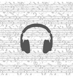 headphones icon seamless vector image