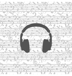 headphones icon seamless vector image vector image