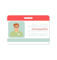homeopathist medical specialist badge vector image vector image