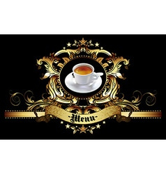 menu design with coffee vector image vector image