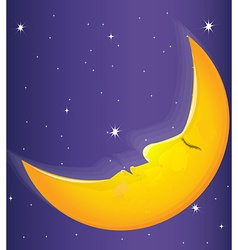 Moon comics vector image