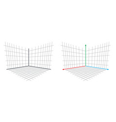 opengl projection matrix perspective 3d axis vector image