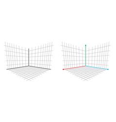 Opengl projection matrix perspective 3d axis vector