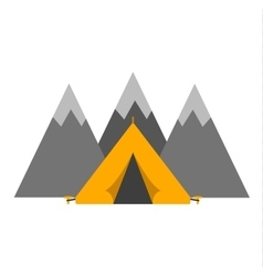 Outdoor tent vector