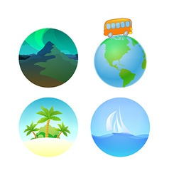 Round Travel llustrations vector image vector image