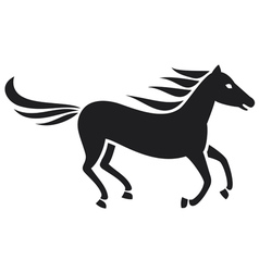 running horse silhouette vector image vector image