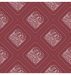 Seamless background with celtic art vector image vector image