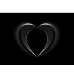Smooth silk black heart background vector