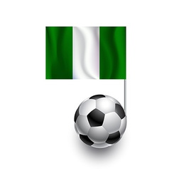 Soccer balls or footballs with flag of nigeria vector