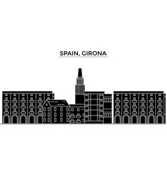 Spain girona architecture city skyline vector