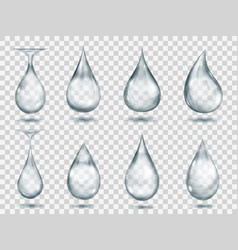 transparent gray drops vector image vector image