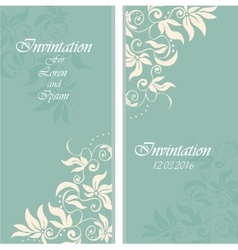 wedding invintation or party invinatation card vector image