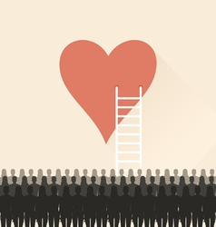 Stairs to heart vector