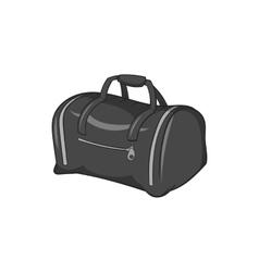 Bag icon black monochrome style vector image