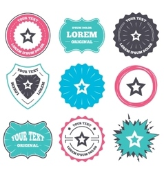 Star sign icon favorite button navigation vector