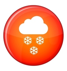 Cloud and snowflakes icon flat style vector image