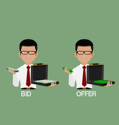 Bid and offer vector