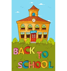 Back to school concept colorful school house vector