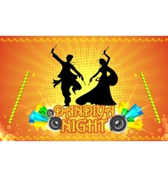 Dandiya night vector
