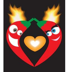 Love peppers vector