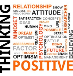 Word cloud positive thinking vector